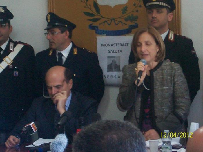 Pierluigi Bersani e Maria Carmela Lanzetta